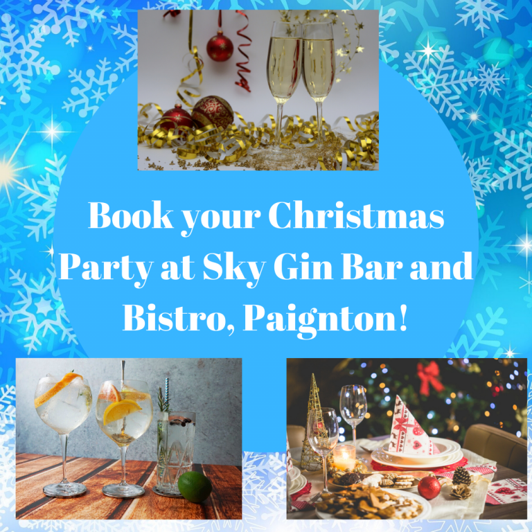 Book your Christmas Party at Sky Gin Bar and Bistro! (1)